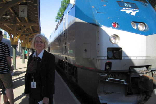Train Host Volunteer Enjoys Riding the Rails