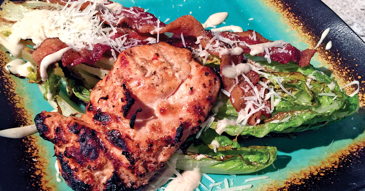 Recipes:  Grilled Chicken Caesar Salad