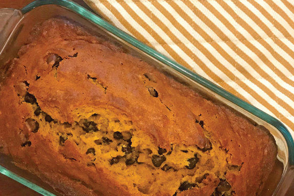 Recipes:  Pumpkin Chocolate Chip Bread